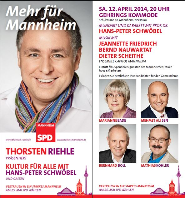 Kultur Fur Alle Mit Hans Peter Schwobel Spd Neckarau Almenhof