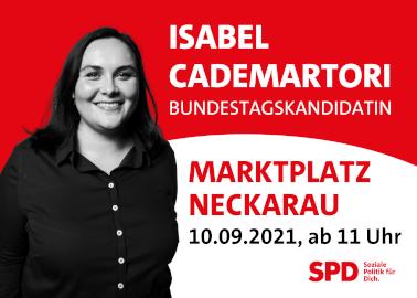 SPD-Bundeskandidatin Isabel Cadematori kommt nach Neckarau - Bild: Isabel Cadematori
